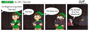 EWCOMIC No. 241 - Take this! by eddsworld