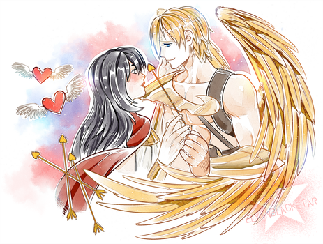 COMMISSION - Sanji and Vanessa by ElyonBlackStar