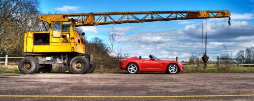 The Opel and The Crane II by MrBeastmaster