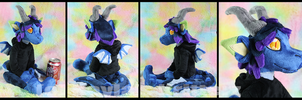 Taya Dragon Plushie by BlueWolfCheetah
