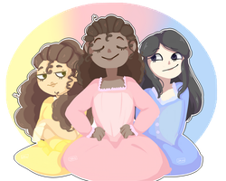 The Schuyler sisters. . .Work! by LorenBicho