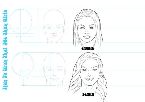 How to draw That 70s Show girls by Juggertha