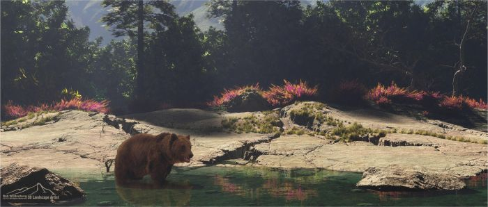 Grizzly by 3DLandscapeArtist