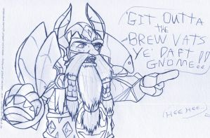 ANGRY DWARF DISAPPROVES by TehZee