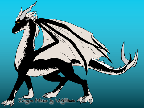 Black and White Dragon by ASHREDFORD