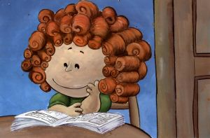 The girl with naturally curly hair. by grim1978