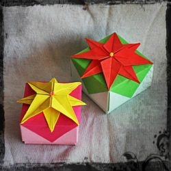 Origami box: Starry flowers by nefer-et