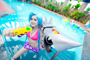 League of Legends: Pool Party Jinx by JoviClaire