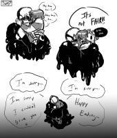 Some angsty gaster and frisk doodle by Muramasa-nii