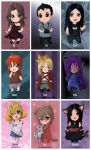 OC Chibi Collection - Sheet 1 by Fugaz-Star