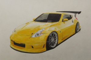 Voltex Nissan 370Z (Z34) Drawing by xMadish