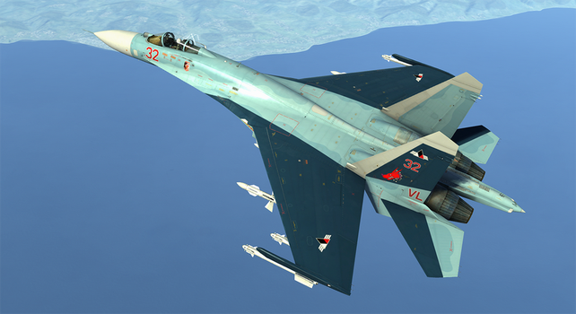 DCS Galm 1 Su-27 Broken Mirror AU by ACZCipher