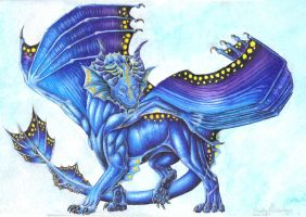 Water Dragon by SilvaDragoness