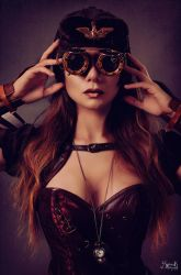 Steampunk Series Pt. 1: Behind The Glass by IreneAstral