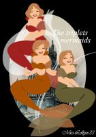 The triplets mermaids by miss-lollyx-33