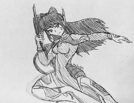 D.Va Blake (RWBY x Overwatch) by MechaG11