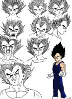 Vegeta sketches 2 by Sylerna