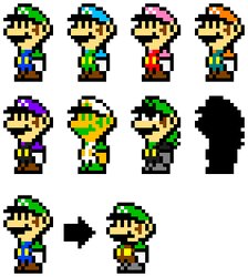 Paper Luigi Smash Costumes (Echo Fighter) by KoopshiKingGeoshi