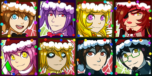 FNAF 1 Christmas Icons (2017) [CANCELED] by Wolf-con-f