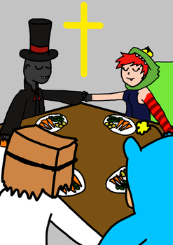 Villainous Christian Dinner by flugthechristian