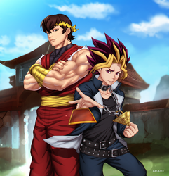 Commission: J Ryoga and Yugi by R-Legend