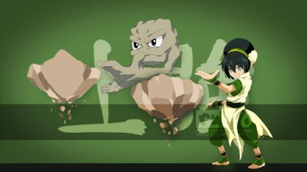 Toph and Geodude by ruistyfles