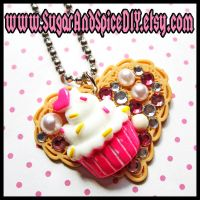 I Love Cupcakes Deco Necklace by wickedland