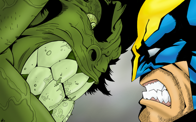 HULK vs WOLVERINE by iShody