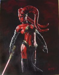 Darth Talon my painting by cliford417