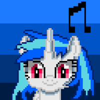 DJ PON3 (pixel art) by SuperHyperSonic2000