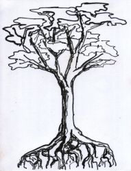 Tree and roots by Observer14