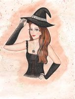 Sketching (Halloween Witch) by PaolaZunico