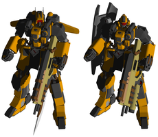 Mobile Suit NE-01 Ogre by Felisfurtificus