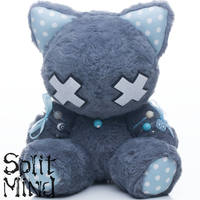 Blue Grey Kitten by splitmindplush