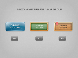 Stock group avatars by emey87