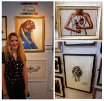 Me and my gallery artwork by Bonniemarie