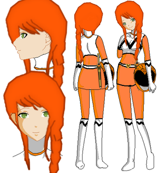Ankaa Lost Galaxy Orange (Lost Galaxy OC) by SailorTrekkie92