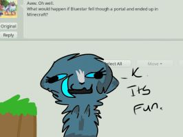Ask Bluestar:. Minecraft by TheFloweyfanclub