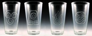 Avatar / Legend of Korra Pint Glass Set by Yukizeal