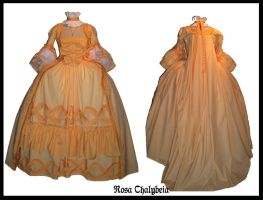 Apricot Robe a la Francaise by Stahlrose