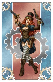 Steampunk Woman by LeighKellogg
