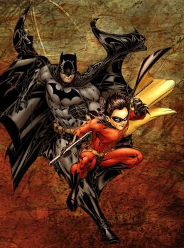 Batman and Robin - NorthChavis by SpiderGuile