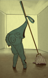 Depressed Janitor by Heccentrik
