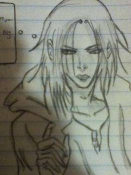 One of my characters from one of my manga projects by Colorlessking