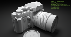 Nikon F3 WIP7 finished model by MarcelloRupelli