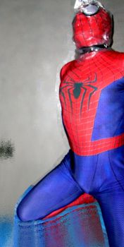 Spider-man bagged for some breathplay 4 by rubbermask