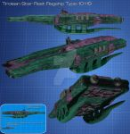 Tirolean Star Fleet Flagship for Robotech by Kodai-Okuda