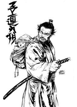 Lone Wolf and Cub - Sketch by thisismyboomstick