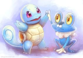 New Friends: Squirtle and Froakie