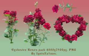 Roses  exclusive pack5 by IgnisFatuusII